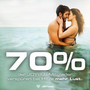 70% der JOYclub-Mitglieder verspüren bei Hitze mehr Lust.