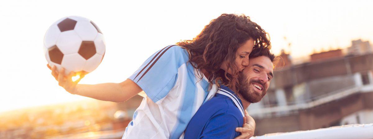 Fußball Paar